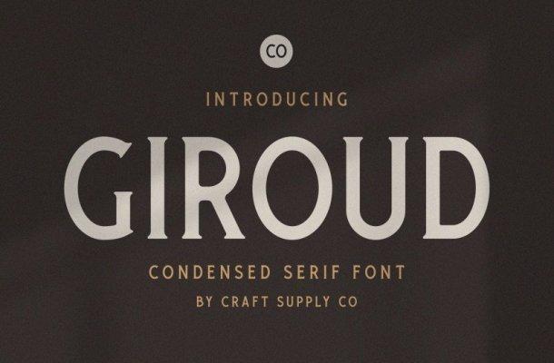 Giroud – Condensed Serif Font