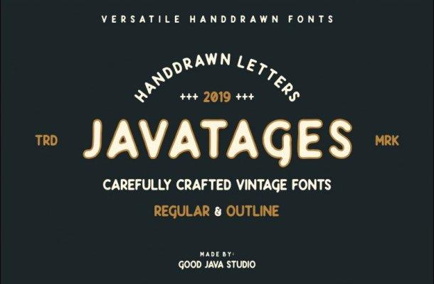Javatages Bold Vintage Font Free