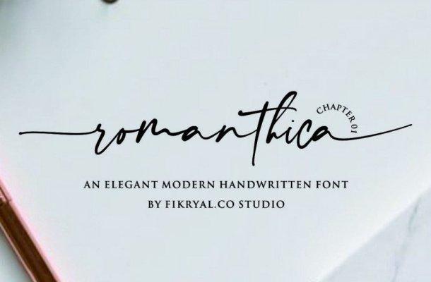 Romanthica Script Font Free