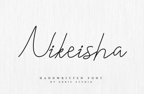 Nikeisha Cursive Font
