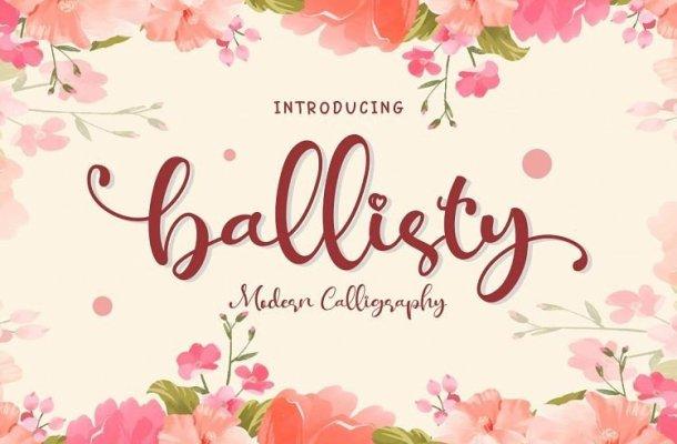 Ballisty Script Font