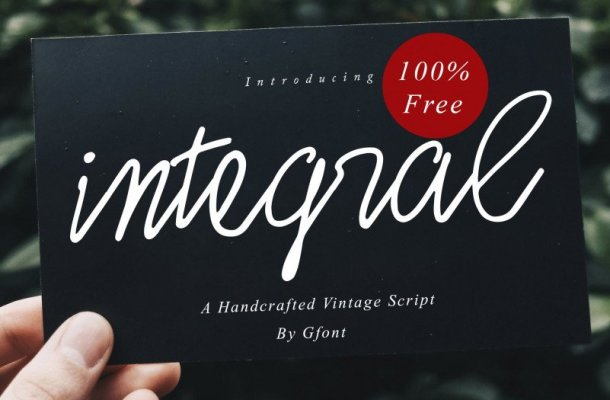 Integral Script Font