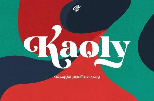 Kaoly – Bold Serif Font
