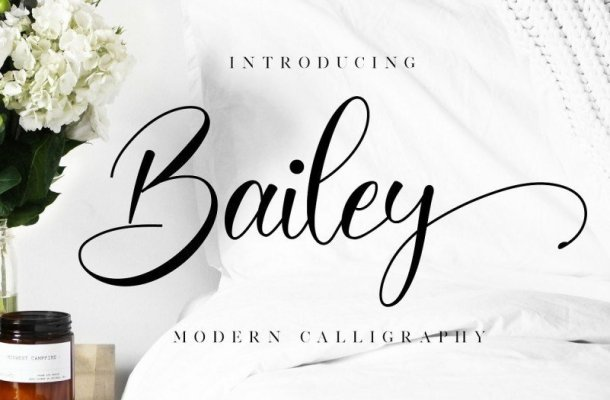 Bailey Modern Calligraphy Font