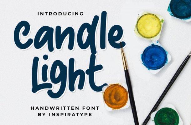 Candle Light – Handwritten Font