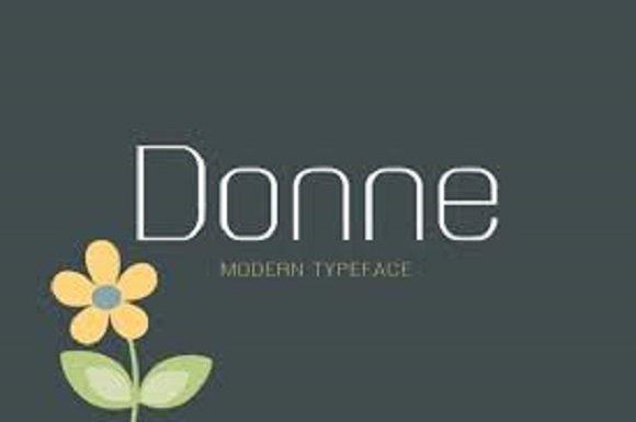 Donne Modern Sans Font