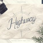 Highway – Vintage Font Family+Extras