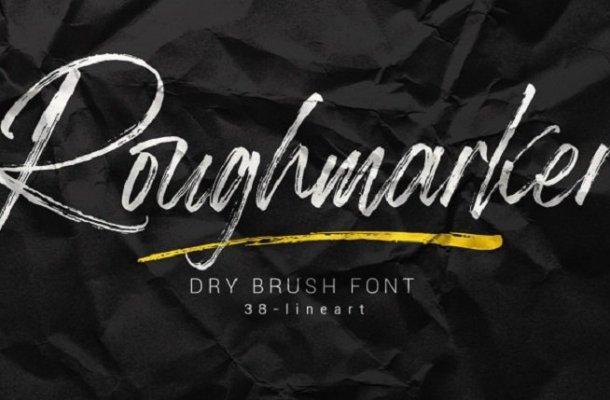 Roughmarker Brush Font
