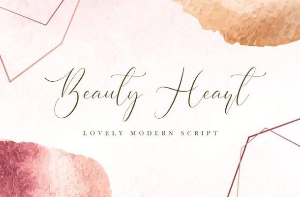 Beauty Heart Script Font