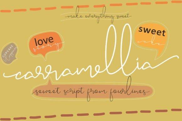 Carramellia Handwritten Font