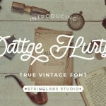 Dattge Hurty – Monoline Retro Font
