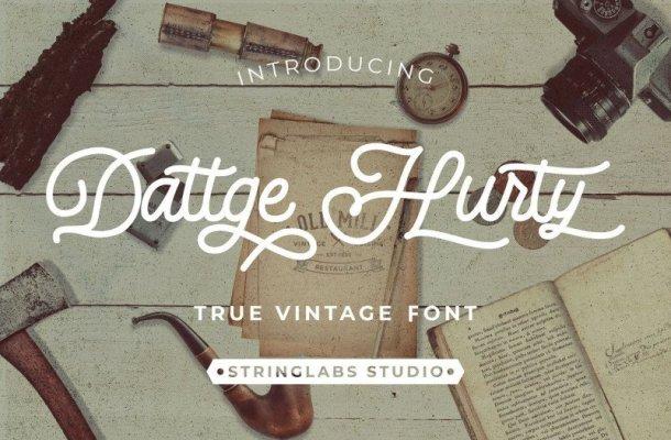 Dattge Hurty – Monoline Retro Font