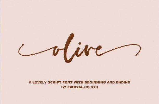 Olive Script Font