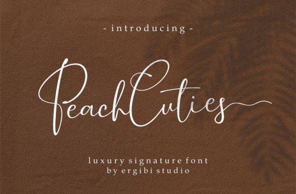 Peach Cuties Signature Font