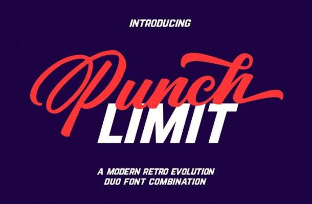 Punch Limit Font Duo