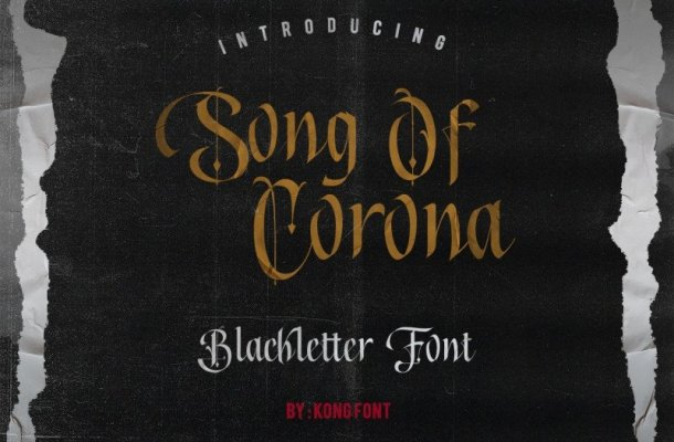 Song of Corona – Blackletter Font