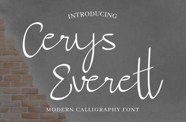 Cerys Everett Calligraphy Font