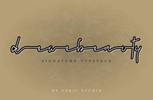 Dewebeauty Signature Font