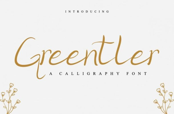 Greentler Calligraphy Font