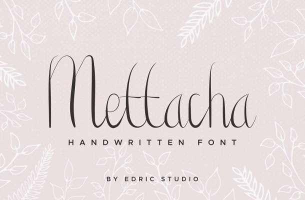 Mettacha Handwritten Font