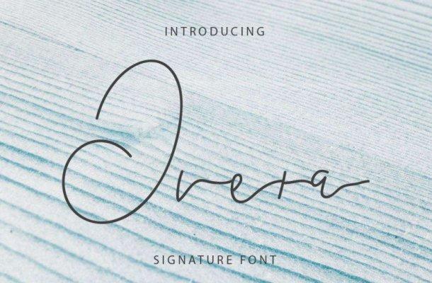 Overa Signature Font