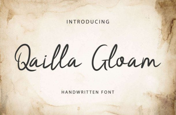 Qailla Gloam Brush Font