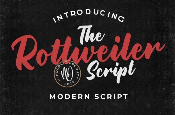 Rottweiler Script Font