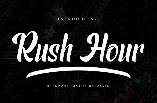 Rush Hour Script Font