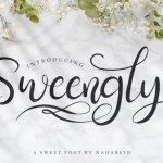Sweengly – Sweet Script Font