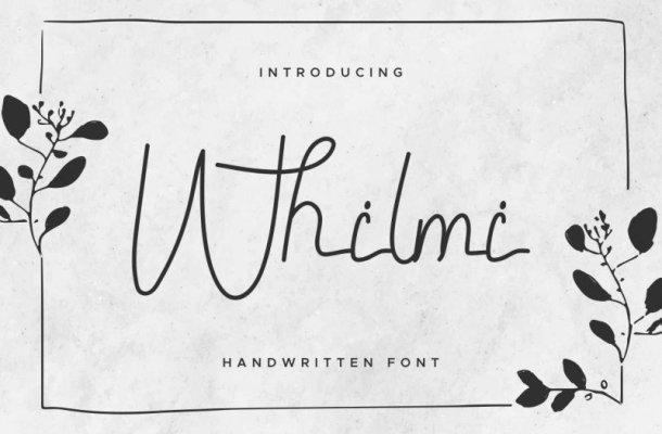 Whilmi Handwritten Font