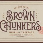 Brown Chunkers – Display Font