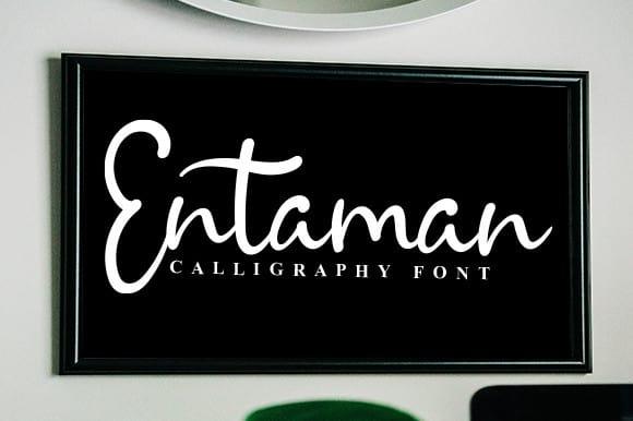 Entaman Script Font