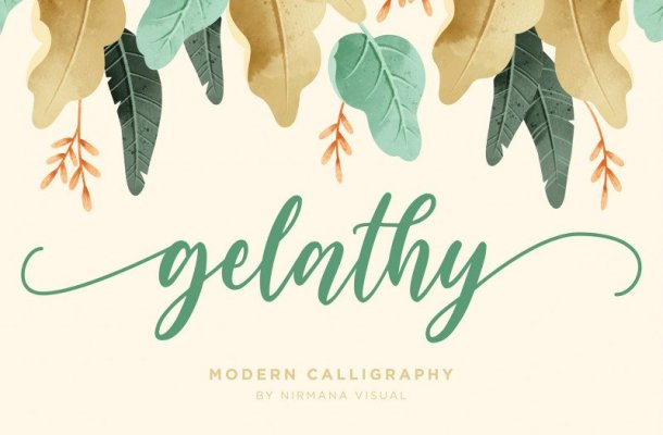 Gelathy Calligraphy Font