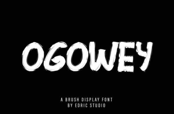 Ogowey Rough Font
