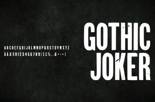 Gothic Joker Display Font