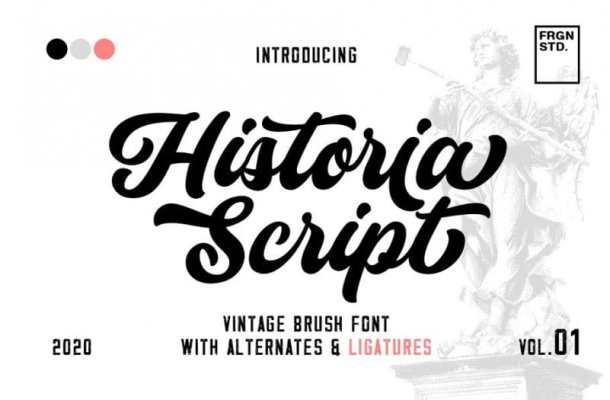 Historia Vintage Script Font