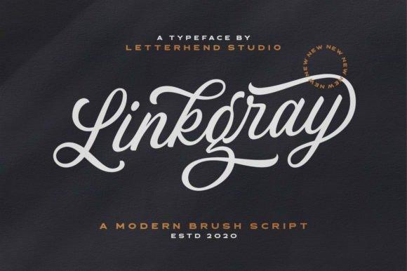 Linkgray Calligraphy Font