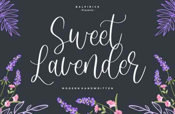 Sweet Lavender Calligraphy Font