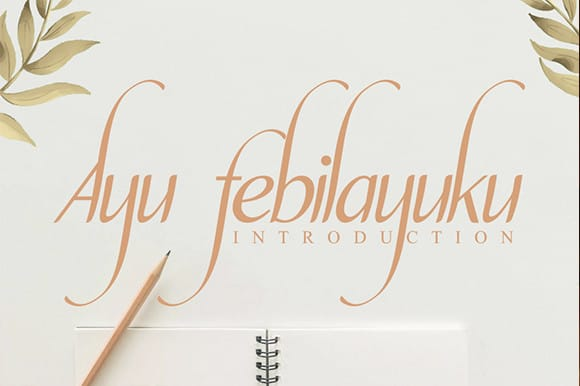 Ayu febilayuku Calligraphy Font