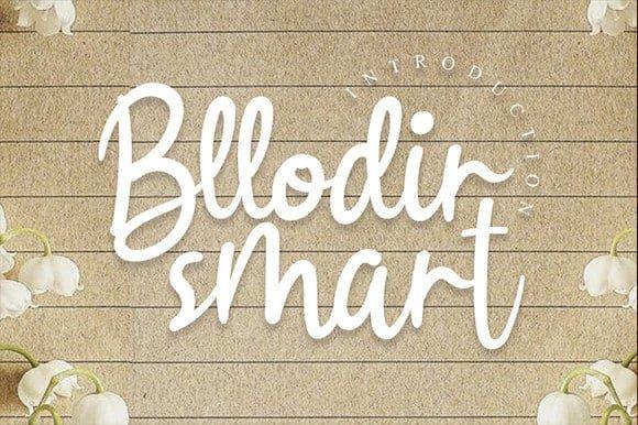 Bllodir Smart Script Font