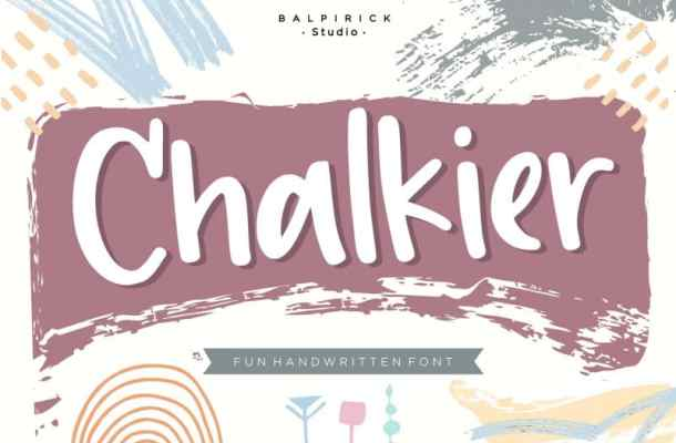 Chalkier fun & quirky handwritten Font