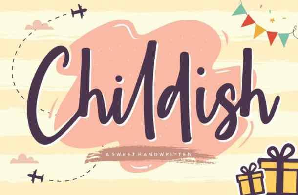 Childish Sweet Handwritten Font