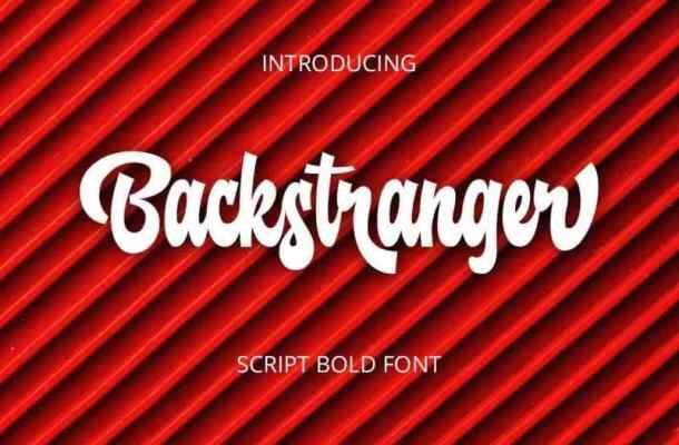 Backstranger – Bold Script Font