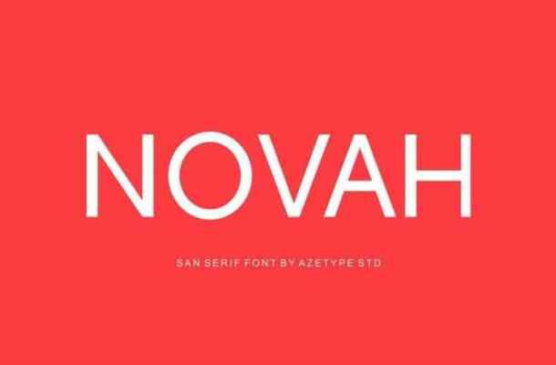 Novah Sans Free Font
