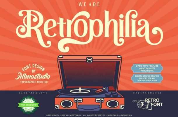 Retrophilia Serif Font