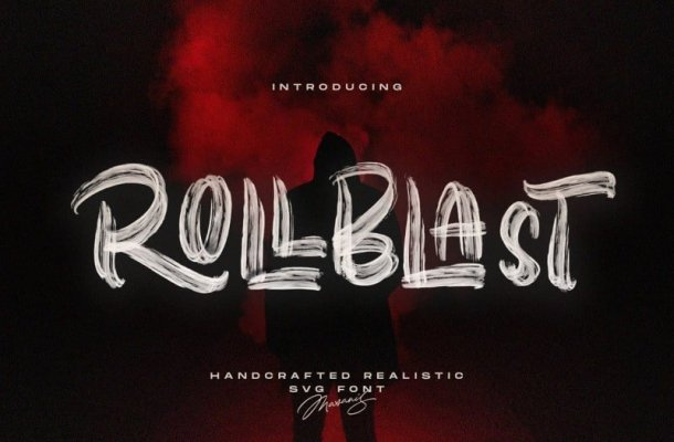 Rollblast Brush Font