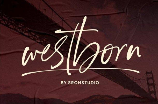 Westborn – Signature Font