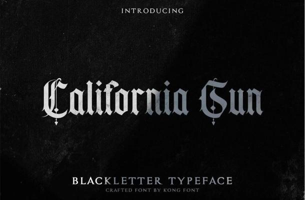 California Sun Blackletter Typeface