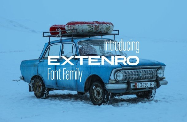 Extenro Sans Serif Font Family