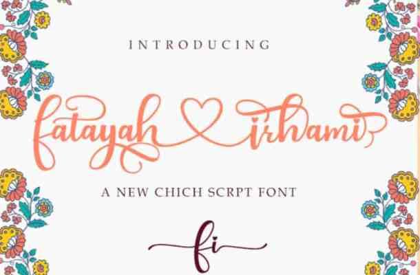 Fatayah Irhami Script Font